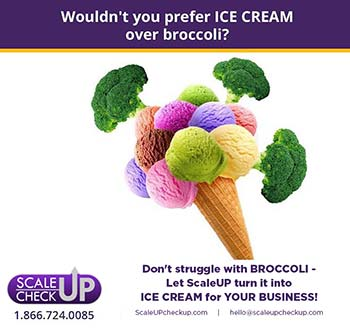 """turning broccoli into ice cream"""