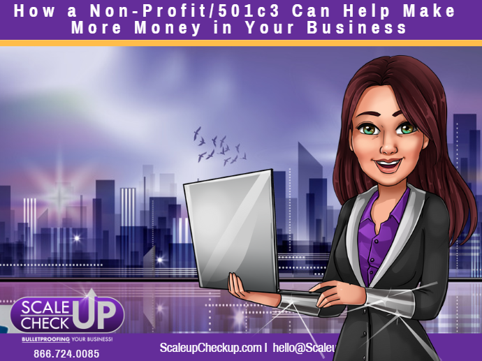 """How a Non-Profit/501c3 Can Help Make More Money in Your Business"""